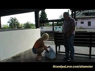 Grandpa In Love With Hot Blonde Teen