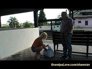 Grandpa In Love With Hot Blonde Teen
