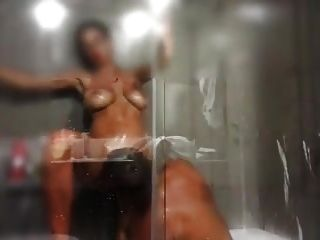 Busty Milf In The Shower And Her Lover.