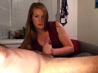 Girlfriend Gives A Handjob