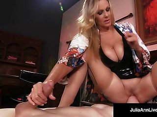 Mega Hot Milf Julia Ann Tortures & Abuses Her Slave Boy!