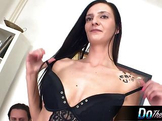 Sexy Wife Cream Pied While Husband Watches