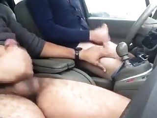 Jerking With A Buddy In My Car