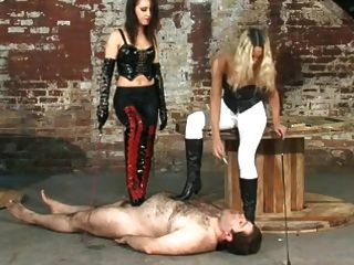 Two Mistresses Dominating Their Slave