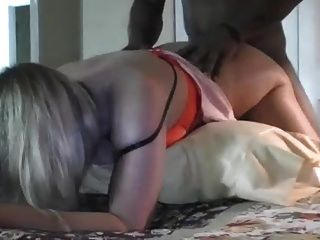 Very Vocal Mature Blonde Takes Black Cock And Cumshot