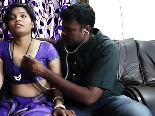 Satin Silk Saree Aunty Romance With Doctor