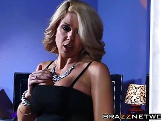 Blonde Chick With Big Boobs Rides A Cock