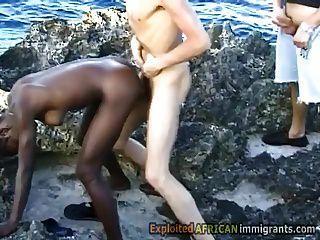 White Pervs Take Turns To Fuck Hot Ebony