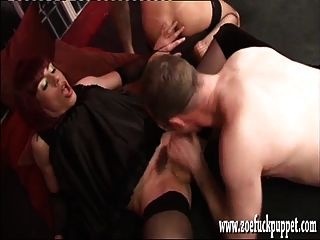 Horny Tranny And Sexy Shemale Love Sucking Big Group Cock