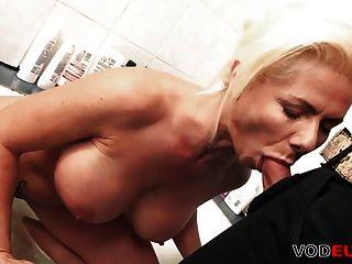 Blond Milf Anal Gefickt