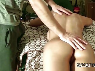 Extrem Hot German Teen Seduce To Anal Fuck After Massage