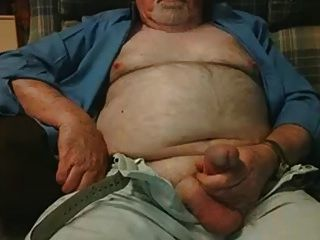 Hairy Grandpa Bear Fondling His Cock