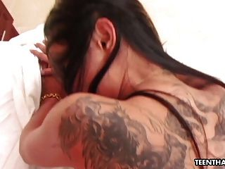 Bad Ass Teen Thai Slut With Tattoos Getting Fucked