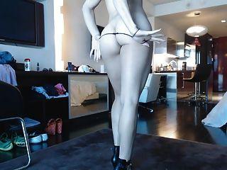 Blonde Webcam Goddess 20 - Black Dress And Heels Squirt