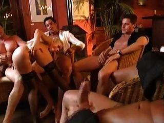 Pornoluver,s Dp Gangbang 2, 1 Girl&5guys!