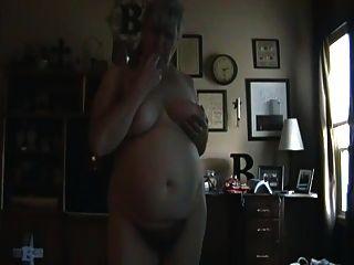 Chubby Mature Posing