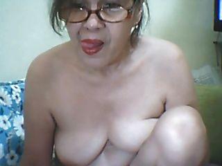 59yo Granny Plays With Dildo