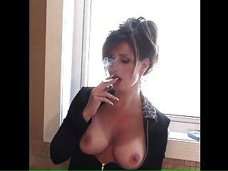 Nice Mature Smoking Big Tits