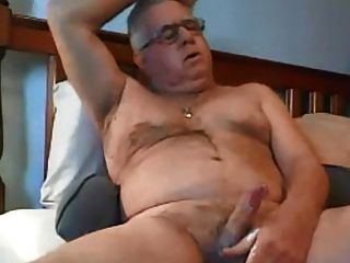 Married Daddy Stroking His Creamy Dick