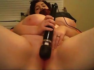Curly Hair Huge Tits Masturbates