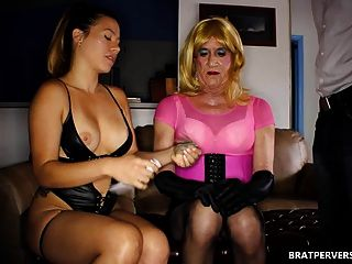 Sissy Crossdresser Sucking Cock For Her Pimp