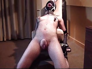 Slave Front Punishment With Flog, Clamps, Crop And Dildo
