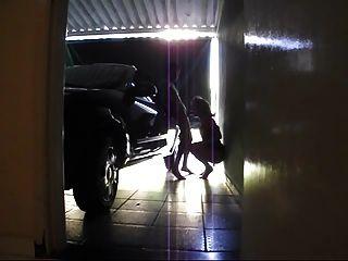 Tgirl Bareback Fucked In Garage