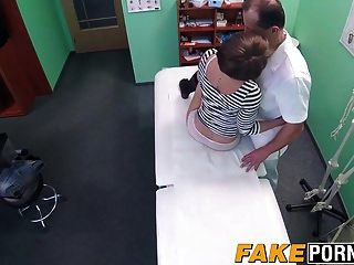 Short Haired Brunette Sasha Zima Seduces The Doctor