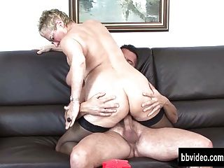 Busty German Granny Eats Dick