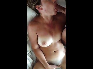 She Blows While She Bates, And Both Cum Hard