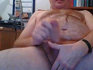 Hot Daddy Bear Stroking Hard