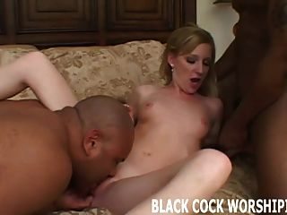 These Two Big Black Cock Are Going To Penetrate All My Holes