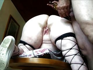 Granny: Preparing, Oiling And Fucking Before Assfucking.