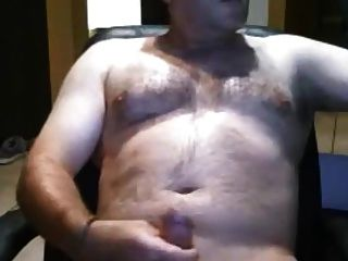 Sexy Daddy Bear Stroking His Fat Cock