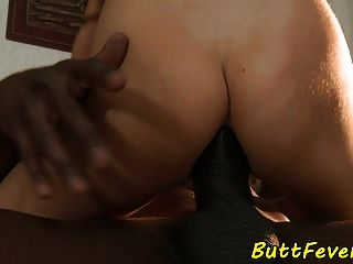 European Babe Anally Banged By Black Prick