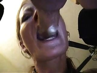 Wife, Deepthroating, Gagging And Fingering His Ass