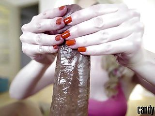 Candy May - Bbc Jerk Off Close-up
