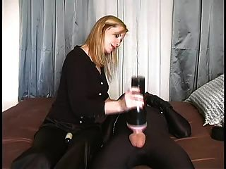 Cum Control - Blonde Wife Toys Slave
