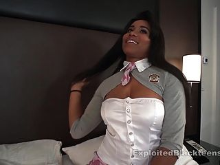 Busty Natural Tit Black Girl Cums In Pov Video