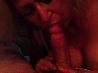 Mature Blonde Sucks Old Cock