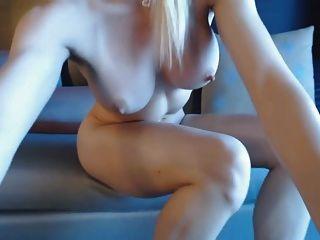 Blonde Webcam Goddess 17 - Big Squirt On Sofa