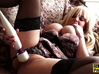 Masturbating Uk Sub Toying Her Pierced Cunt