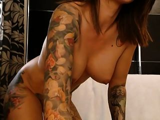 Tatooed Babe Big Round Firm Ass And Tits Boobs