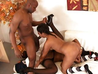 Ebony & Latin Chicks Enjoy The Bbc