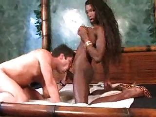 Dark Chocolate Busty Shemale With Monster Dong Fucks  (tu22)