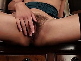 Hairy Italian Milf Isabella Strips Down At The Office