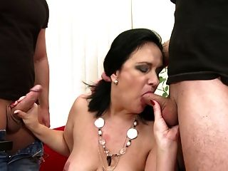 Mature Bigtit Mother Seduced By Two Sons