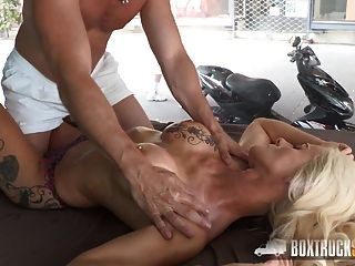 Amazing Dyana Hot Gets A Massage On Her Tits