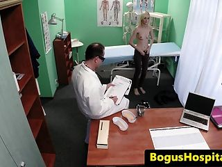 Skinny Patient Squirts While Doc Fingers Vag