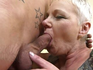 Mature.nl Busty Granny Fucked Doggy Style